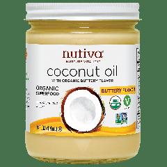 NUTIVA NUTIVA COCONUT OIL BUTTERY FLAVOR 14OZ