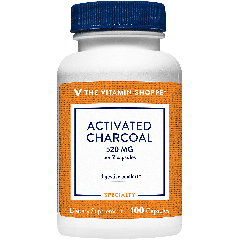 THE VITAMIN SHOPPE ACTIVATED CHARCOAL 520 mg (100 cap)