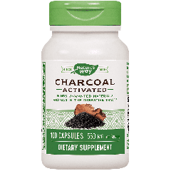 NATURES WAY ACTIVATED CHARCOAL 560 mg (100 cap)