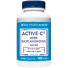 THE VITAMIN SHOPPE ACTIVE-C 500 W/BIOFLAVONOIDS VIT C 500 mg (100 tab)