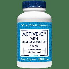 THE VITAMIN SHOPPE ACTIVE-C 500 W/BIOFLAVONOIDS VIT C 500 mg (100 tab)