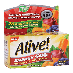 NATURES WAY ALIVE ENERGY 50+ MULTI (60 tab)