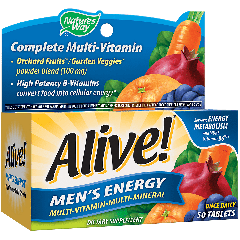 NATURES WAY ALIVE MENS ENERGY MULTI (50 tab)