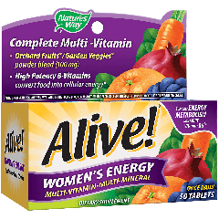 NATURES WAY ALIVE WOMENS ENERGY MULTI (50 tab)