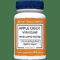 THE VITAMIN SHOPPE APPLE CIDER VINEGAR W/ APPLE PECTIN (100 tab)