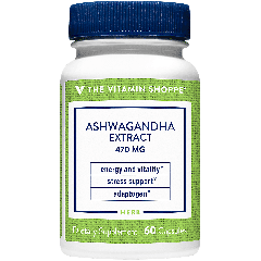 THE VITAMIN SHOPPE ASHWAGANDHA EXTRACT 470 mg (60 cap)