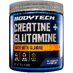 BODYTECH BODYTECH CREATINE + GLUTAMINE UNFLAVORED (30 serv)