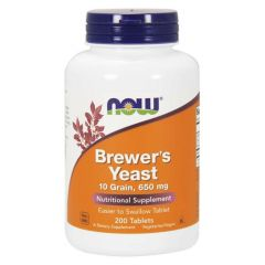 NOW FOODS BREWERS YEAST 650 mg (200 tab)