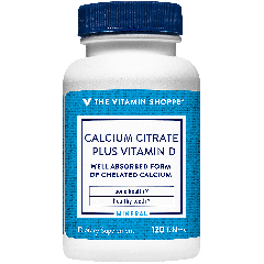 THE VITAMIN SHOPPE CALCIUM CITRATE + VIT D (120 tab)