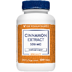 THE VITAMIN SHOPPE CINNAMON EXTRACT 500 mg (100 tab)
