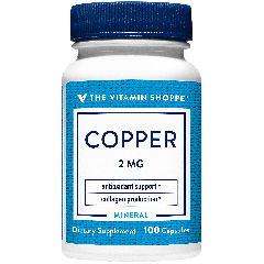 THE VITAMIN SHOPPE COPPER 2 mg (100 cap)
