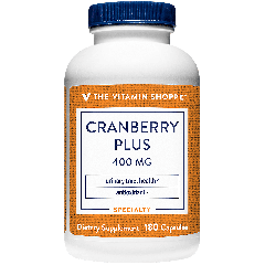 THE VITAMIN SHOPPE CRANBERRY PLUS 400 mg (180 cap)