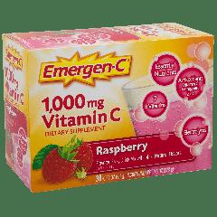 EMERGEN-C VIT C RASPBERRY 1000 mg (30 serv)