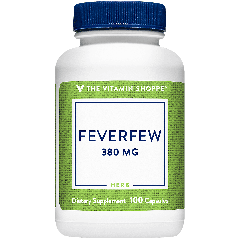 THE VITAMIN SHOPPE FEVERFEW 380 mg (100 cap)