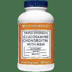 THE VITAMIN SHOPPE GLUCOSAMINE CHONDROITIN MSM 3X (120 tab)