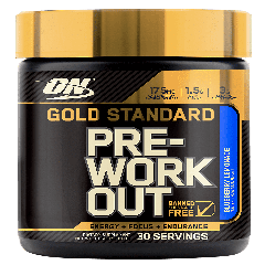 OPTIMUM NUTRITION GOLD STANDARD PRE WORKOUT BLUEBERRY LEMON (30 serv)