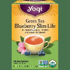 YOGI TEA GREEN TEA BLUEBERRY SLIM LIFE 16 EA
