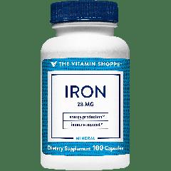 THE VITAMIN SHOPPE IRON 28 mg (100 cap)