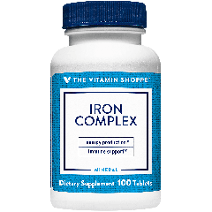 THE VITAMIN SHOPPE IRON COMPLEX (100 tab)