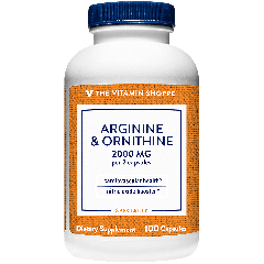 THE VITAMIN SHOPPE L-ARGININE & ORNITHINE 2000 mg (100 cap)
