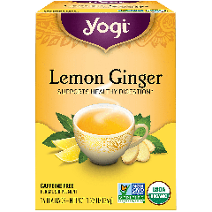 YOGI TEA LEMON GINGER TEA CAFFEINE FREE (16 serv)