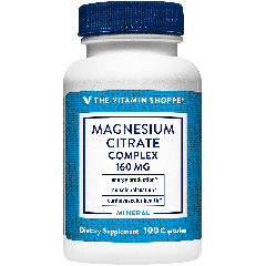 THE VITAMIN SHOPPE MAGNESIUM CITRATE COMPLEX 160 mg (100 cap)