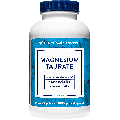 THE VITAMIN SHOPPE MAGNESIUM TAURATE - 125 mg (180 veg cap)