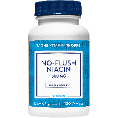 THE VITAMIN SHOPPE NO-FLUSH NIACIN VIT B3 500 mg (100 cap)