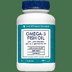 THE VITAMIN SHOPPE OMEGA 3 FISH OIL 600 EPA 240 DHA 1200 mg (180 soft)