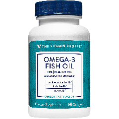 THE VITAMIN SHOPPE OMEGA 3 FISH OIL 600 EPA 240 DHA 1200 mg (60 soft)