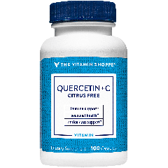 THE VITAMIN SHOPPE QUERCETIN + VIT C (CITRUS FREE) (100 cap)
