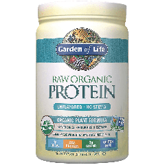 GARDEN OF LIFE RAW ORGANIC PLANT PROTEIN UNFLAV (20 serv) 1.25 lb