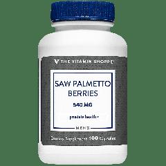 THE VITAMIN SHOPPE SAW PALMETTO BERRIES 540 mg (100 cap)