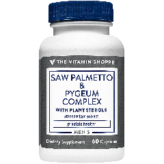 THE VITAMIN SHOPPE SAW PALMETTO & PYGEUM COMPLEX (60 cap)