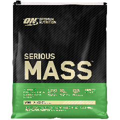 OPTIMUM NUTRITION SERIOUS MASS VANILLA (16 serv) 12 lb