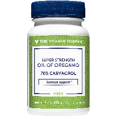 THE VITAMIN SHOPPE SUPER STRENGTH OIL OF OREGANO 45 mg (60 veg cap)