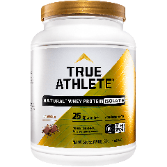 TRUE ATHLETE NATURAL WHEY PROTEIN ISOLATE CHOCOLATE (22 serv) 1.5 lb