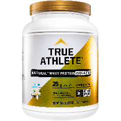 TRUE ATHLETE NATURAL WHEY PROTEIN ISOLATE VANILLA (22 serv) 1.5 lb