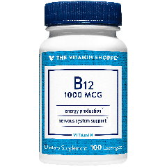 THE VITAMIN SHOPPE VITAMIN B12 1000 mcg (100 sublingual)