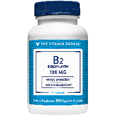 THE VITAMIN SHOPPE VITAMIN B2 RIBOFLAVIN 100 mg (100 cap)