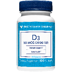 THE VITAMIN SHOPPE VITAMIN D3 2000 UI (100 soft)