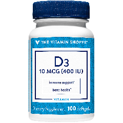 THE VITAMIN SHOPPE VITAMIN D3 400 UI (100 soft)