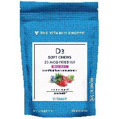 THE VITAMIN SHOPPE VITAMIN D3 MIXED BERRY 1000 UI (60 chews)