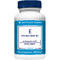 THE VITAMIN SHOPPE VITAMIN E 1000 UI (60 soft)