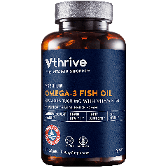 THE VITAMIN SHOPPE VTHRIVE PREMIUM OMEGA-3 FISH OIL W/ VIT D3 1060 mg (60 soft)