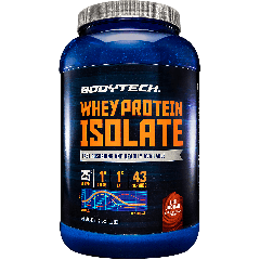 BODYTECH WHEY PROTEIN ISOLATE RICH CHOCOLATE (43 serv) 3 lb