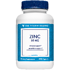 THE VITAMIN SHOPPE ZINC 50 mg (300 cap)