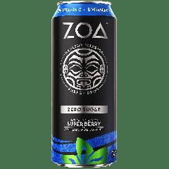 ZOA Zero Sugar Energy Drink w/ Caffeine Super Berry
