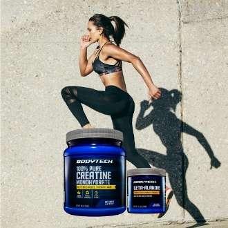 Creatina monohidratada para aumentar masa muscular y beta alanina