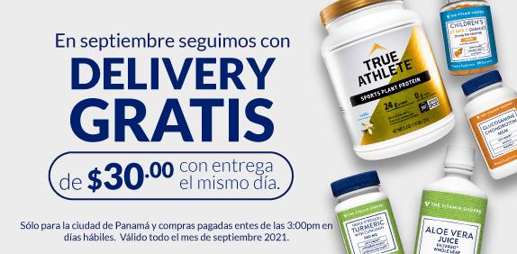 Delivery gratis el mismo dia en Vitamin Shoppe Panama